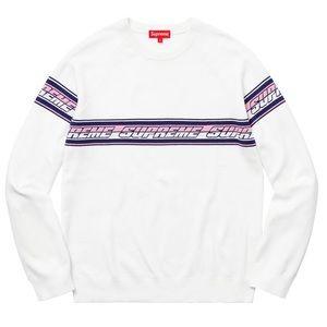 Supreme - Striped Raglan Sweater | White | size L